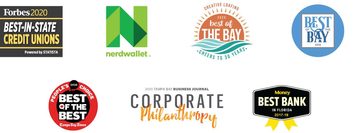 El mejor banco según TBT People'sChoice, TBBJ Corporate Philanthropy y Money Magazine en la Florida 2017-2018