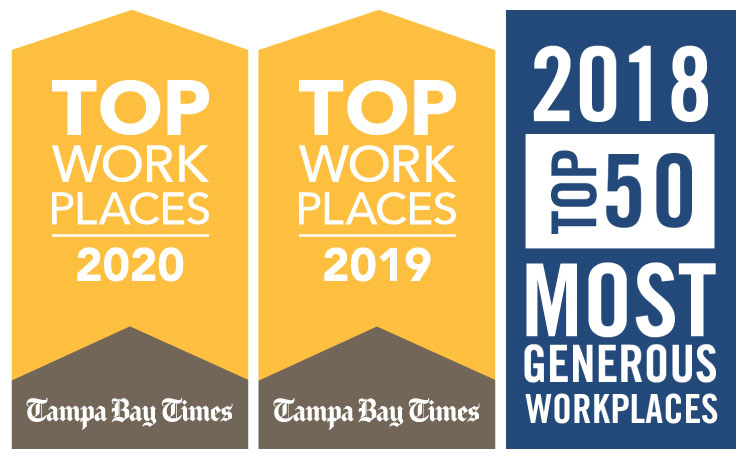 Tampa Bay Times and United Way top workplaces logos