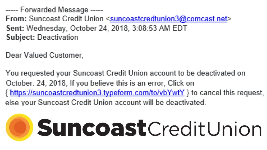 Suncoast Credit Union Customer Service >> Security And Scam Updates Suncoast Credit Union