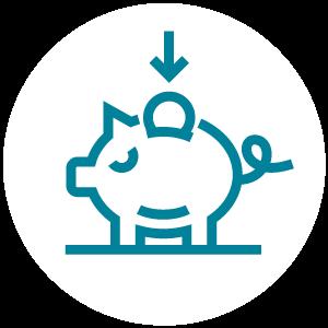 Icono de ahorros