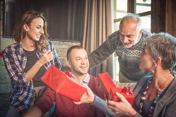 Intercambio de regalos navideños