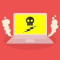 laptop con virus
