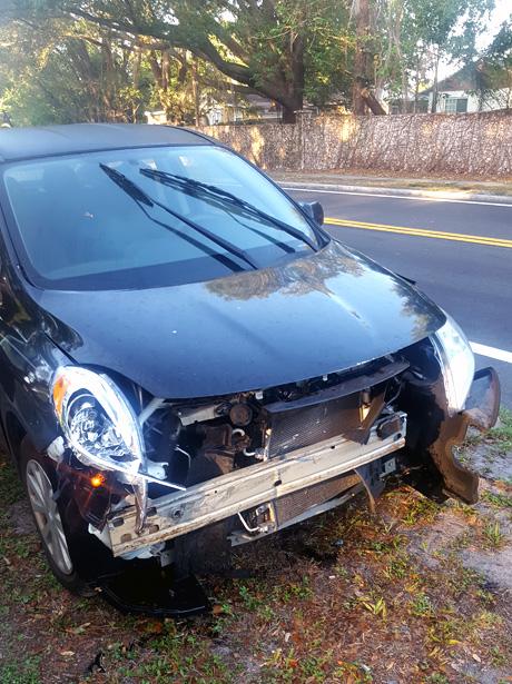 auto chocado con protección GAP