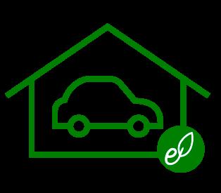 Una casa ecológica feliz