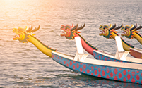 Carrera de embarcaciones Dragon