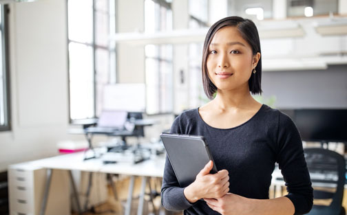 Emprendedora asiática