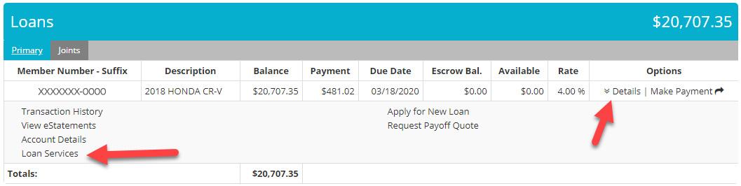 Extensión para préstamos