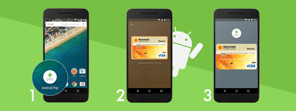 Suncoast Credit Union now offers Android Pay!