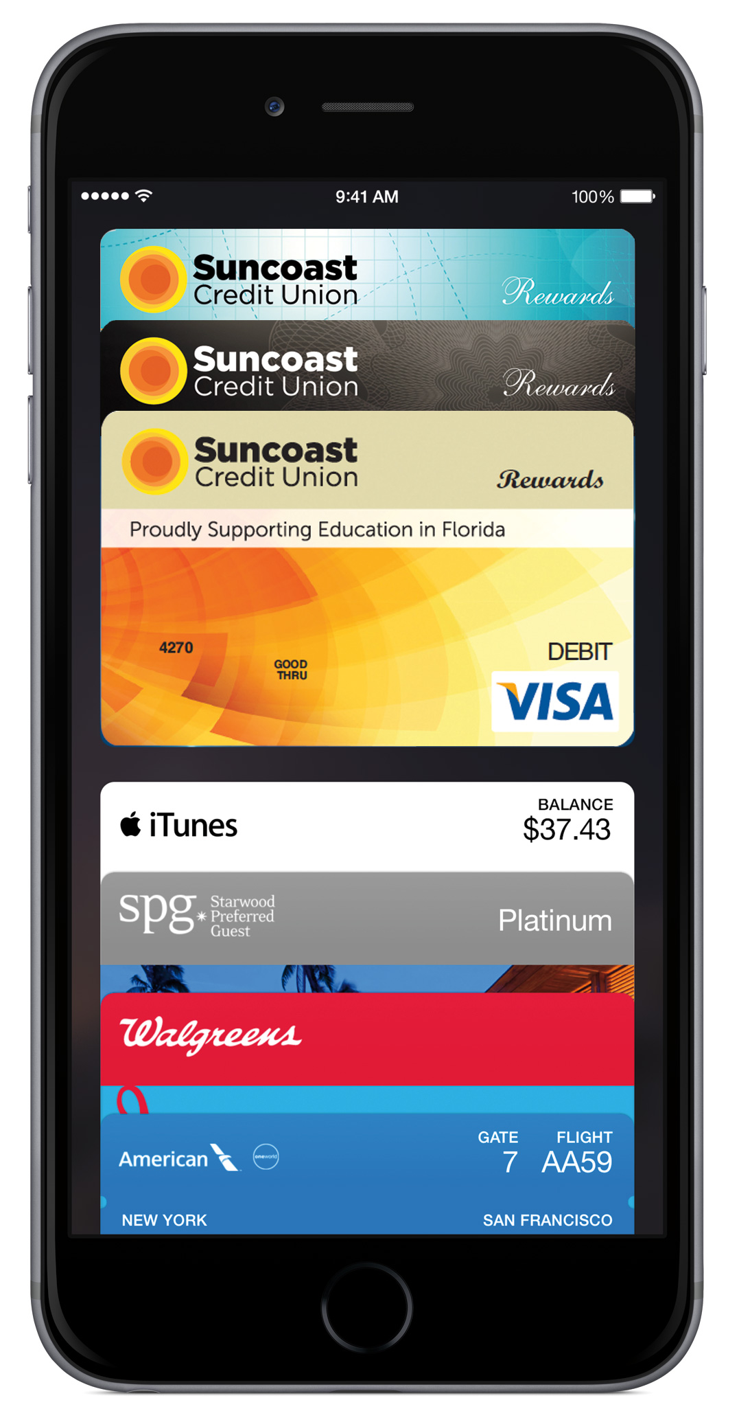 Add Suncoast cards to Passbook
