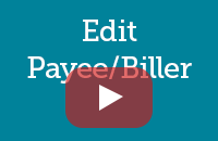 Edit payee/Biller