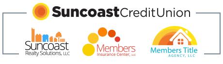 Logotipos de los servicios de bienes raíces de Suncoast Credit Union