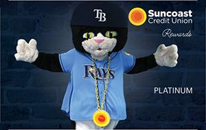 Tarjeta de crédito Suncoast Tampa Bay Rays Rewards Platinum