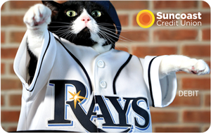 Tarjeta de débito Suncoast Tampa Bay Rays Rewards