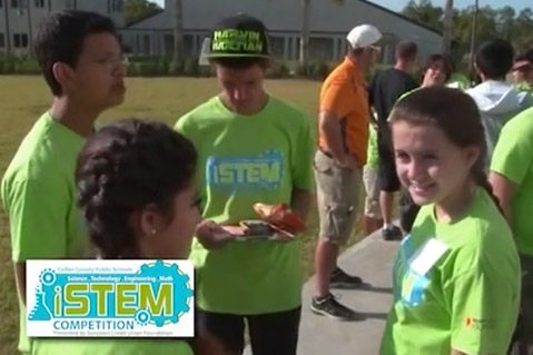 "The inaugural ""iStem Competition 2014 allowed students to simulate real world experiences and engage in teamwork."