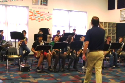 band class and teacher