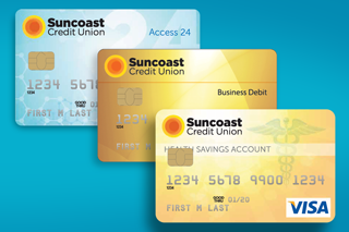 Suncoast Credit Union debit cards