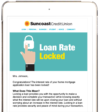 mortgage process email updates