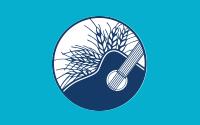 ilustración de una guitarra y trigo