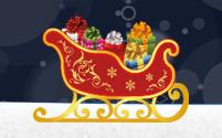 Un trineo lleno de regalos