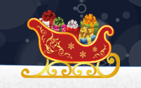 A sleigh full of gifts